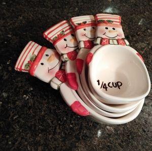 Tien hsing nestled snowmen measuring cup set